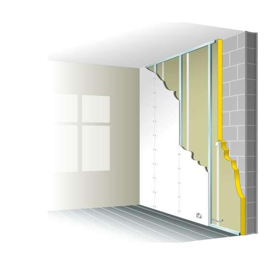 La contre-cloison permet l'isolation thermique et phonique des murs intérieurs. © Graphithèque, Adobe Stock