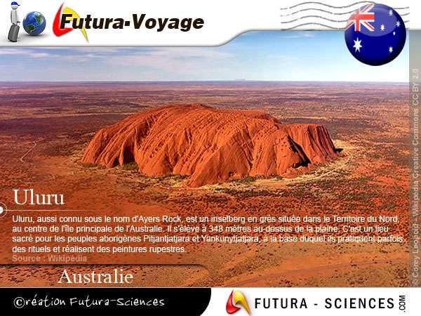 Uluru ou Ayers Rock, est un inselberg en grès Australie