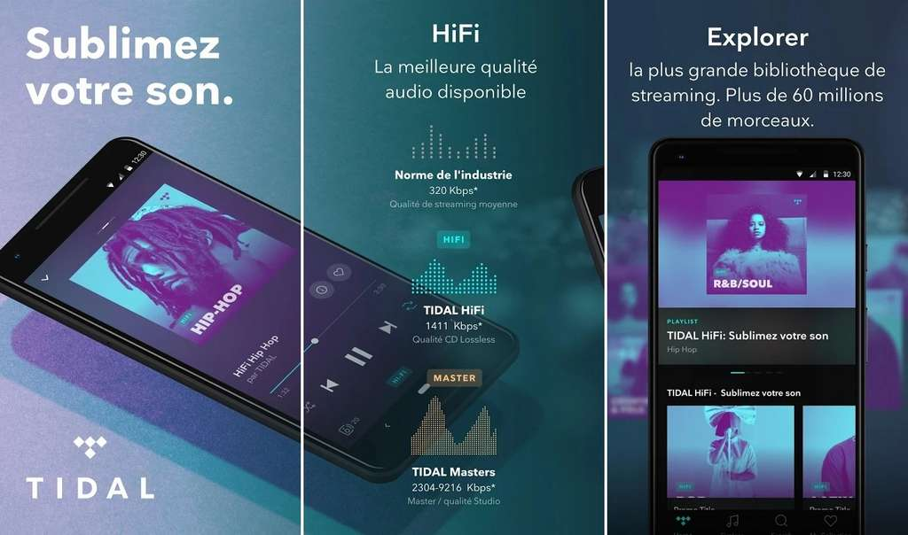 Tidal est la plateforme de streaming qui offre la meilleure qualité sonore © Aspiro AB