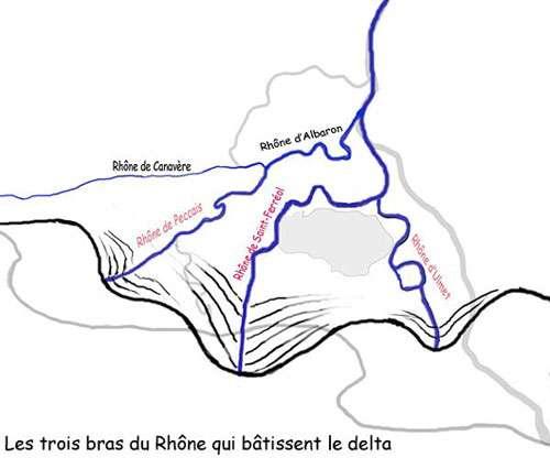 Formation du delta du Rhône il y a 5.000 ans. © DR, reproduction et utilisation interdites