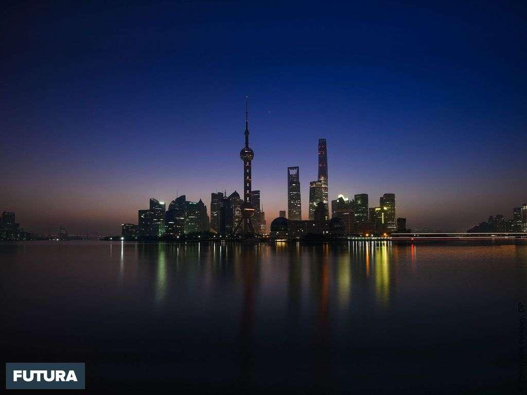 Shangaï la perle de l'Orient au coucher de soleil