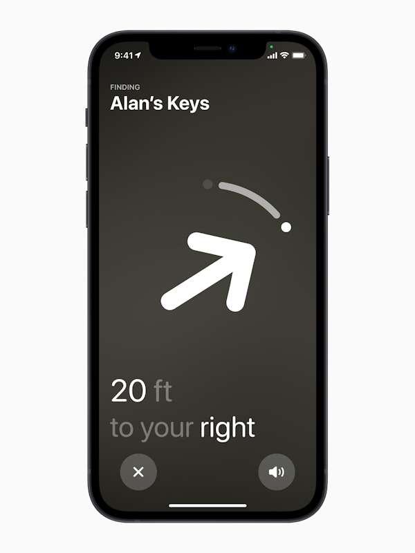 La réalité augmentée permet d'obtenir des indications précises quand on cherche l'objet perdu. © Apple