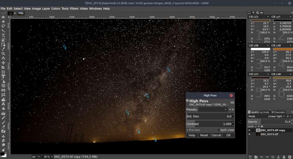 GIMP est le meilleur logiciel de retouche gratuit pour les utilisateurs avancés. © The GIMP Team