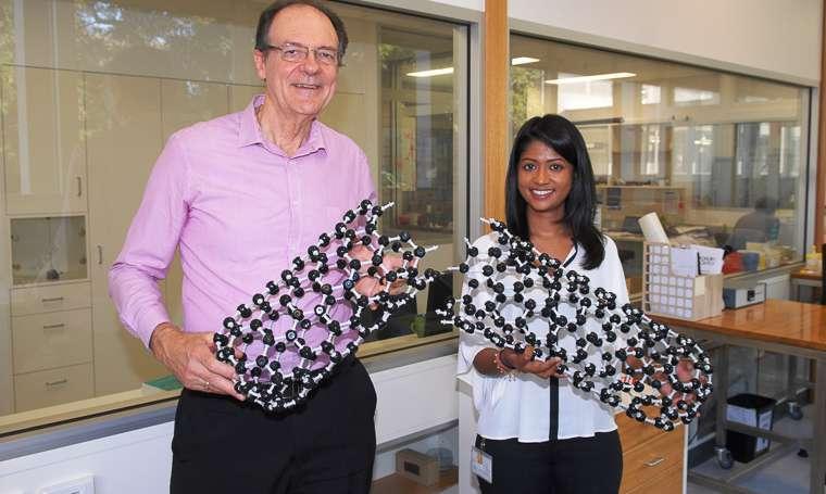 Le professeur Colin Raston et son étudiante, Kasturi Vimalanathan. Ensemble, et avec l'aide de leur machine à décuire les œufs durs, ils sont parvenus à découper des nanotubes de carbone avec une grande précision. © Flinders University