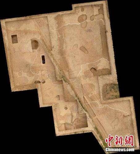 Le coin sud-est de l'ancienne cité impériale retrouvée sur le site de Taosi. © Chinanews.com