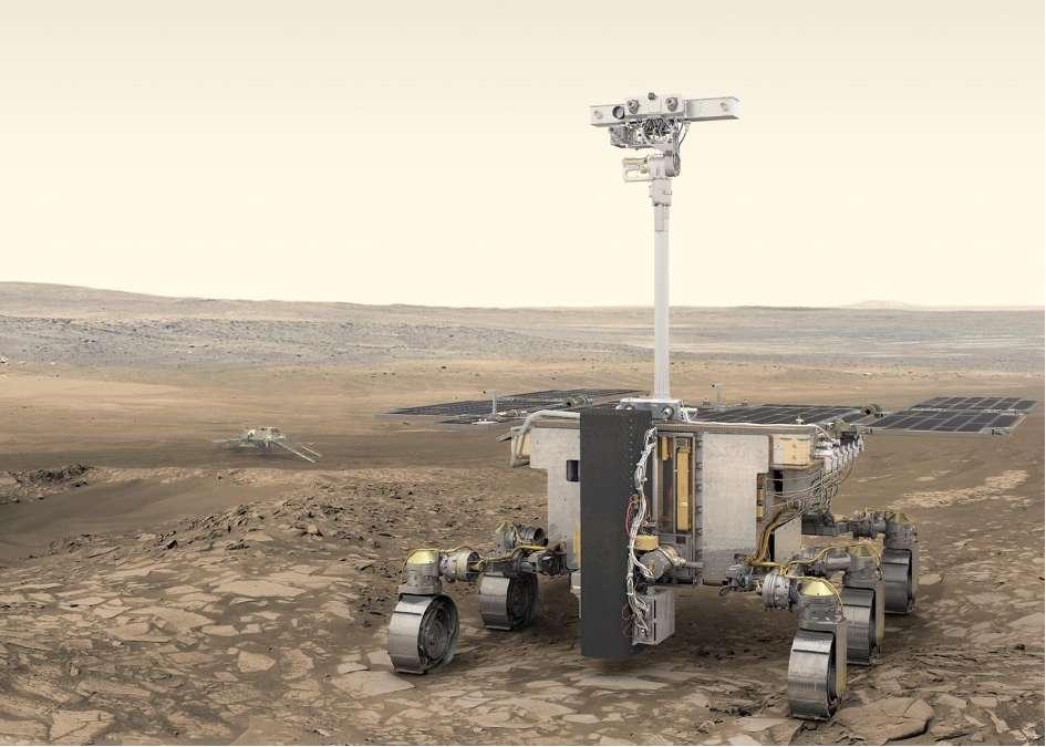 Concept visuel du rover pour la mission ExoMars 2022. © ESA