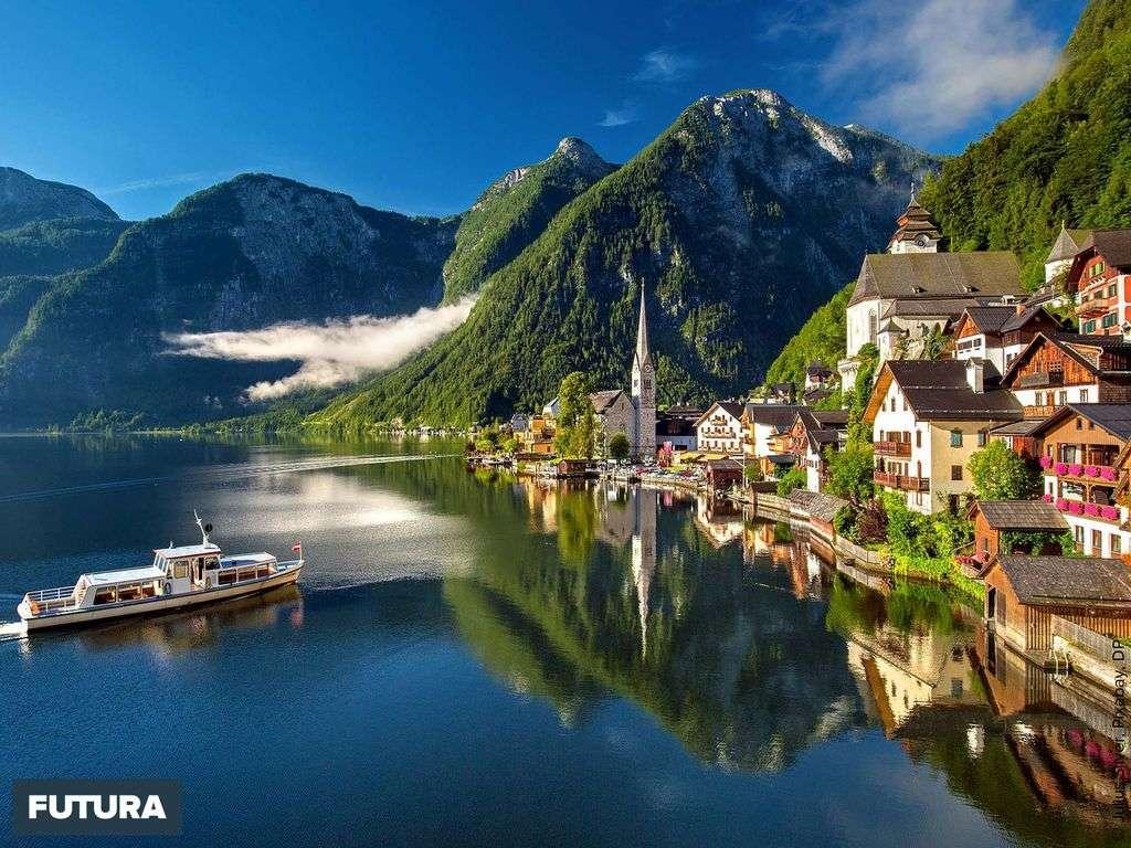 Hallstatt adorable village d'Autriche patrimoine mondial de l'UNESCO