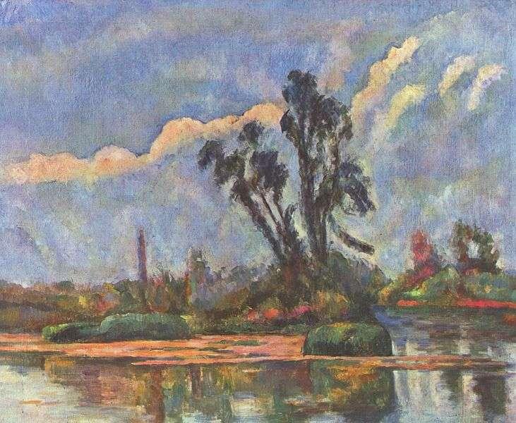 Vue de l'Oise par Paul Cézanne. Certaines de ses œuvres sont à découvrir dans le parcours des peintres de la vallée de l'Oise. © DP