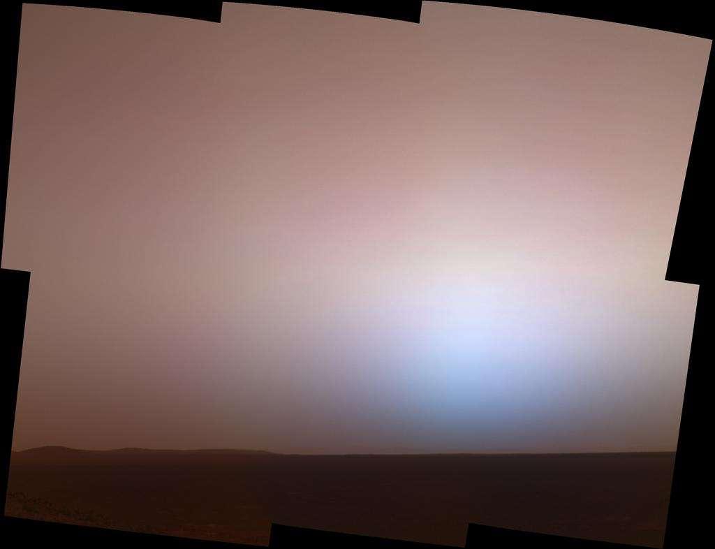 Crépuscule au cratère de Gusev
