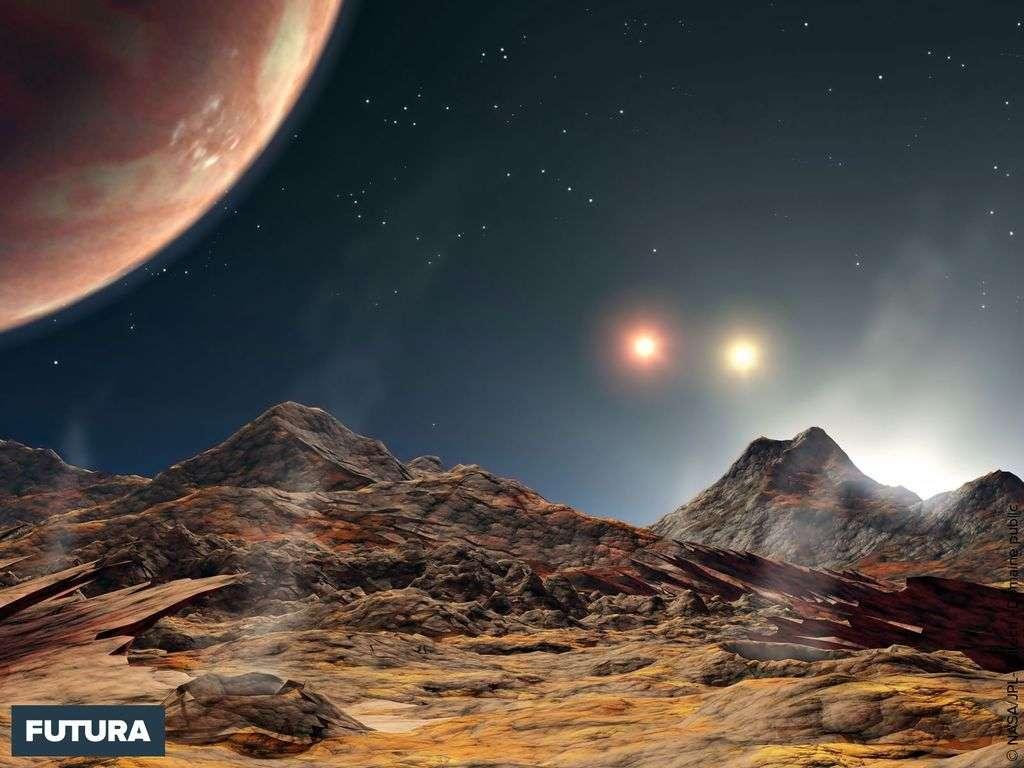 Découverte d'une planète à trois soleils