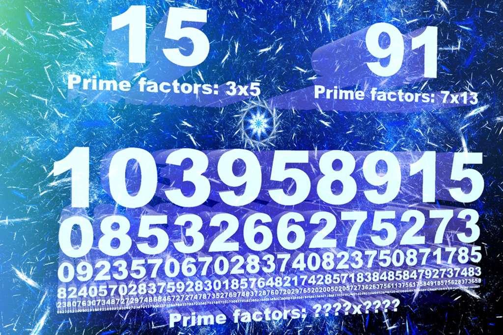 Cette image illustre bien le problème de la factorisation des entiers en un produit de deux nombres premiers. La solution est simple pour des nombres comme 15 (15 = 3 × 5) et 91 (91 = 7 × 13) mais défie les ordinateurs pour des nombres de plusieurs centaines de chiffres. © Jose-Luis Olivares, MIT