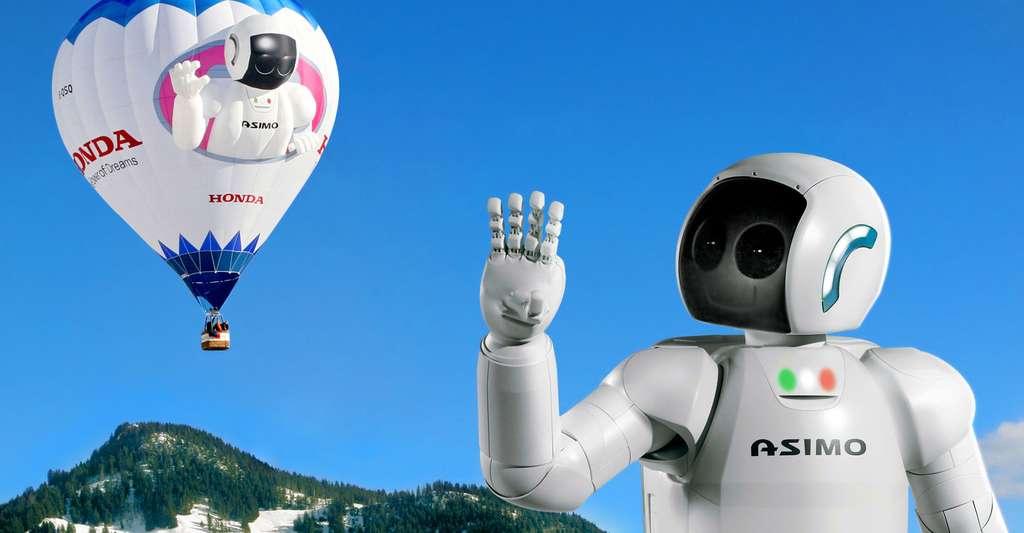 Le robot humanoïde Asimo de Honda. © Ars Electronica, Flickr, CC by-nc 2.0