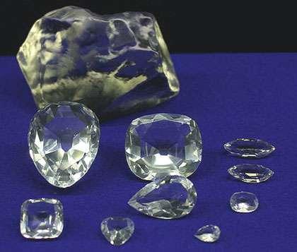 Différentes tailles du diamant Cullinan. © DR