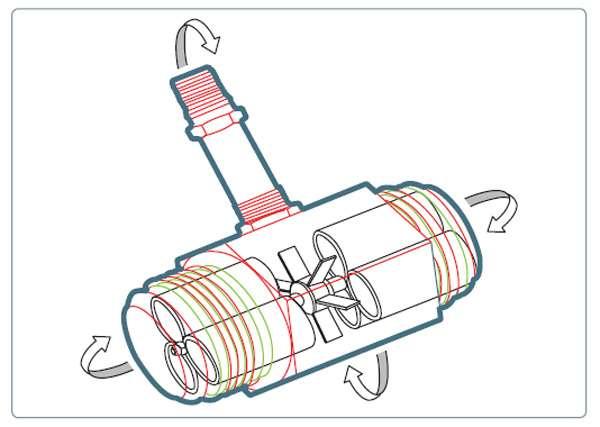 À l'intérieur du métabolimètre se trouve une turbine pour la mesure du flux d'air du sportif. © Belin