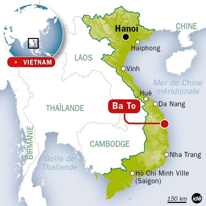 L'épidémie se concentre sur seulement cinq communes autour de Ba To, dans le centre du Vietnam. © Idé