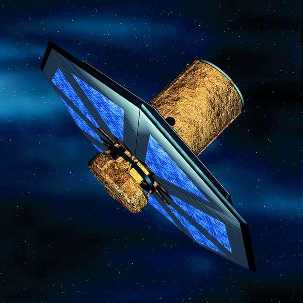 Un des télescopes de la mission Darwin. Celle-ci en comprendra huit au total. © Medialab, Esa, 2002
