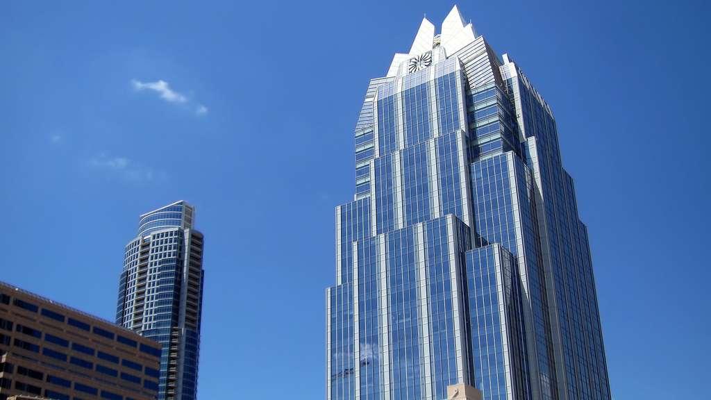 La Frost Bank Tower, construite juste après le 11 septembre 2001