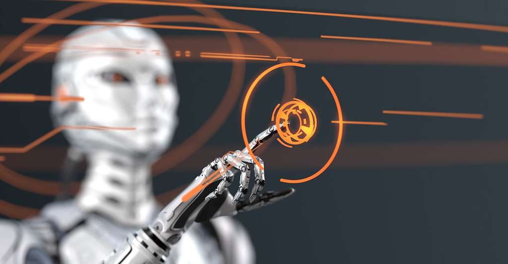 Robot travaillant sur une interface digitale. © Willyam Bradberry- Shutterstock