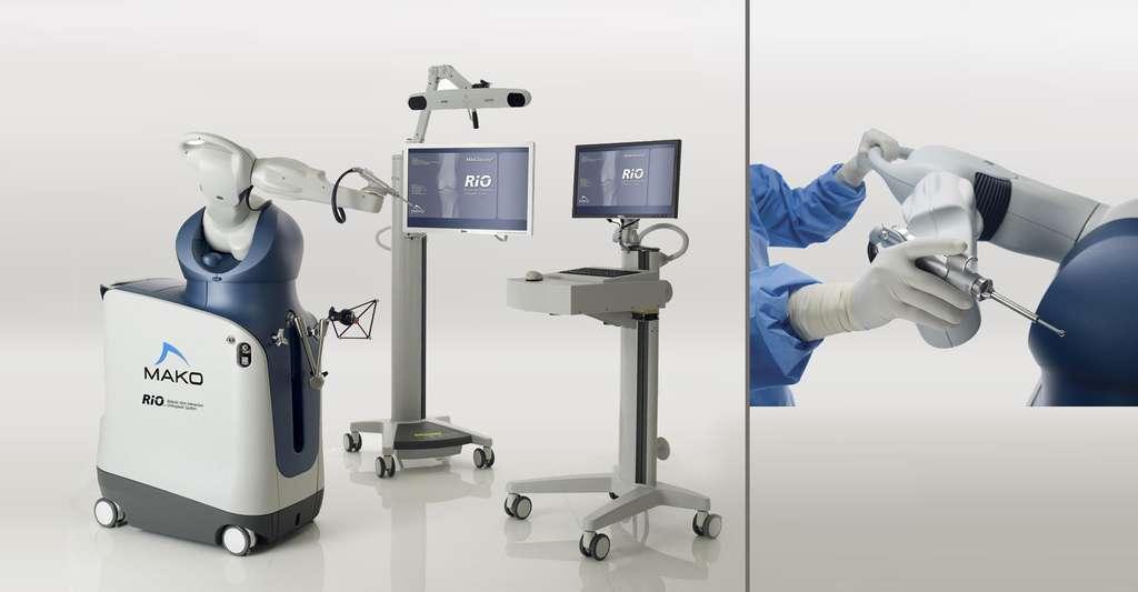 Le robot Mako, comanipulateur parallèle pour la chirurgie orthopédique. © makosurgical.com