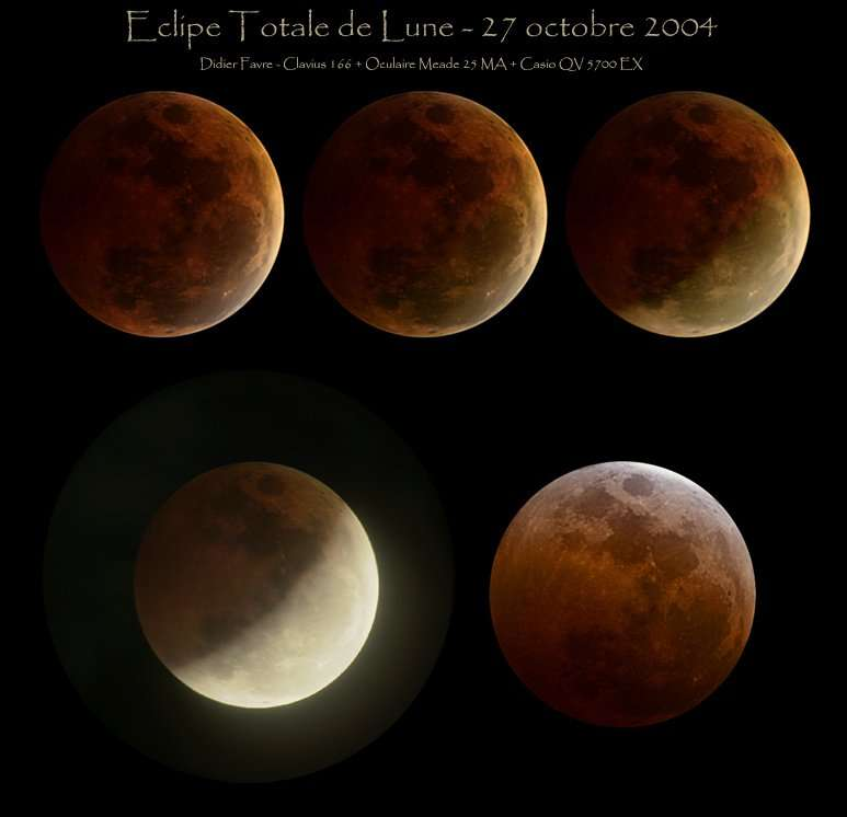 L'Eclipse Totale de Lune du 28 Octobre 2004