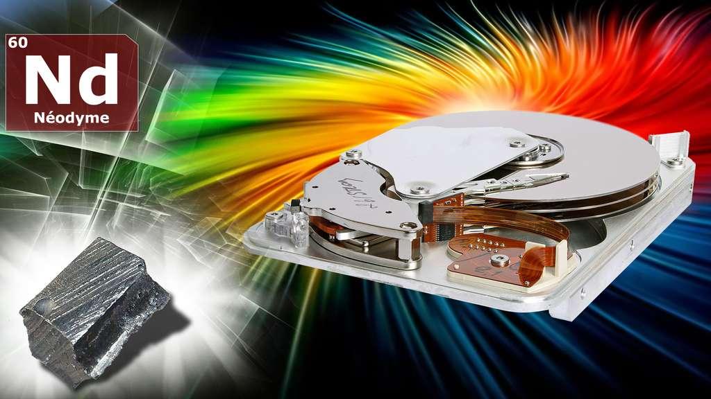 Du néodyme dans les aimants des disques durs
