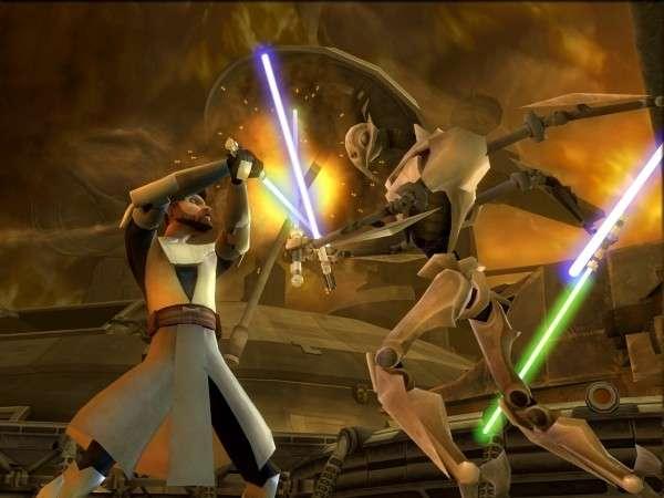 Le sabre laser de Star Wars présente quelques défauts de conception... ici, un extrait du jeu vidéo Star Wars, The clone wars. © LucasArt