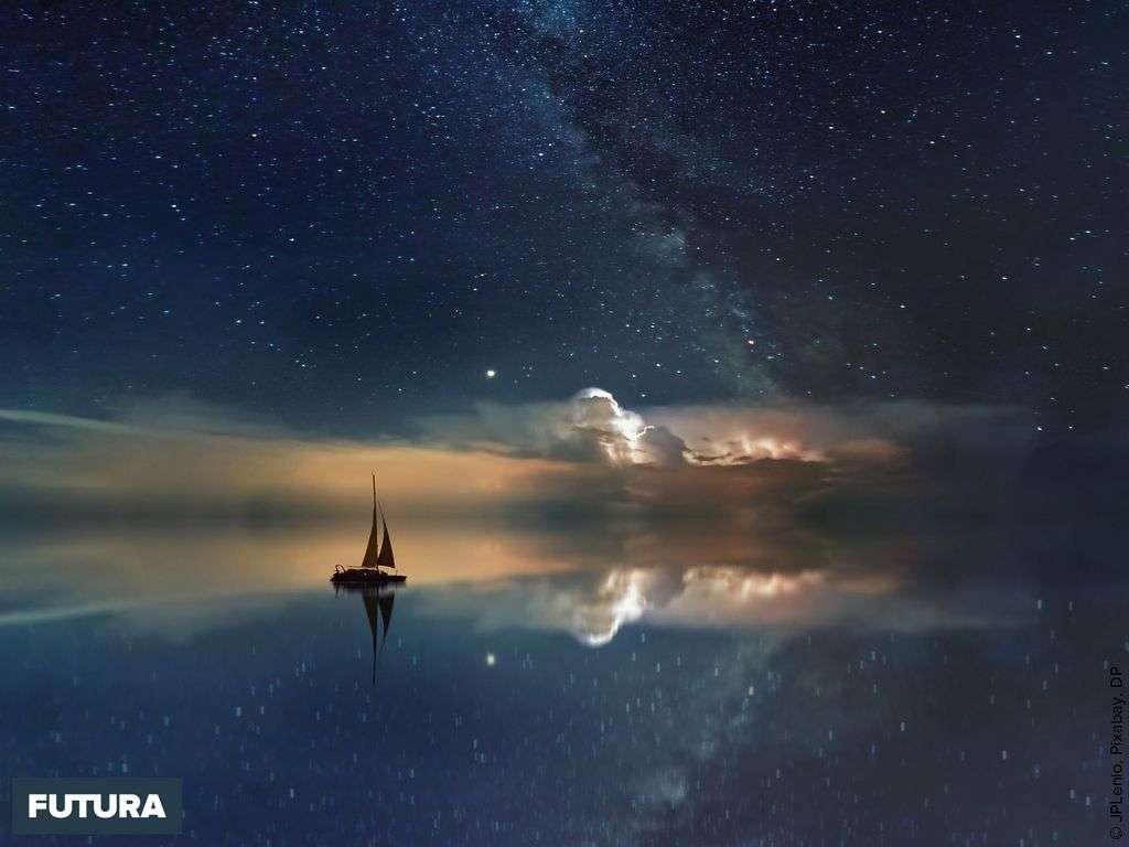 Voyage au clair de lune sous la voie lactée