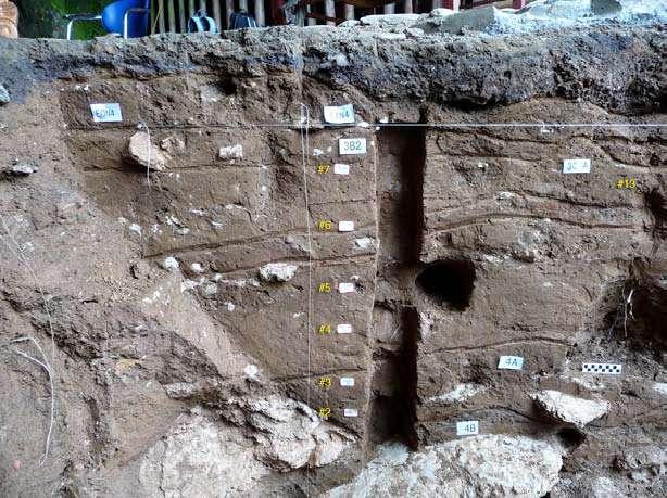 Les fragments de poterie de la grotte de Xianrendong ont été extraits de ces sédiments. L'analyse et la datation de ces structures géologiques révèlent que cette cavité a été habitée entre 29.000 et 17.500 ans avant le présent. Elle a ensuite été abandonnée avant d'être à nouveau occupée de 14.500 à 12.000 ans avant le présent. © AAAS