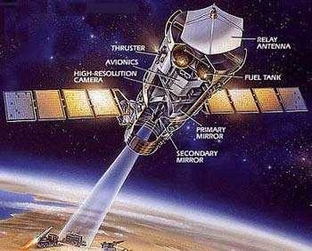 Vue d'artiste d'un satellite espion KH 11. © Droits réservés