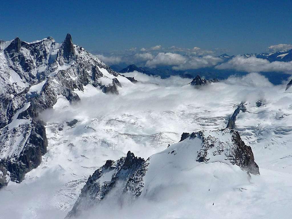 Le glacier du Géant au cœur de la polémique franco-italienne