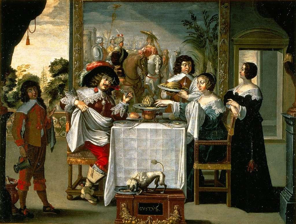 « Le goût » par Abraham Bosse vers 1640. Musée des Beaux-Arts de Tours. © MBA Tours, Patrick Boyer