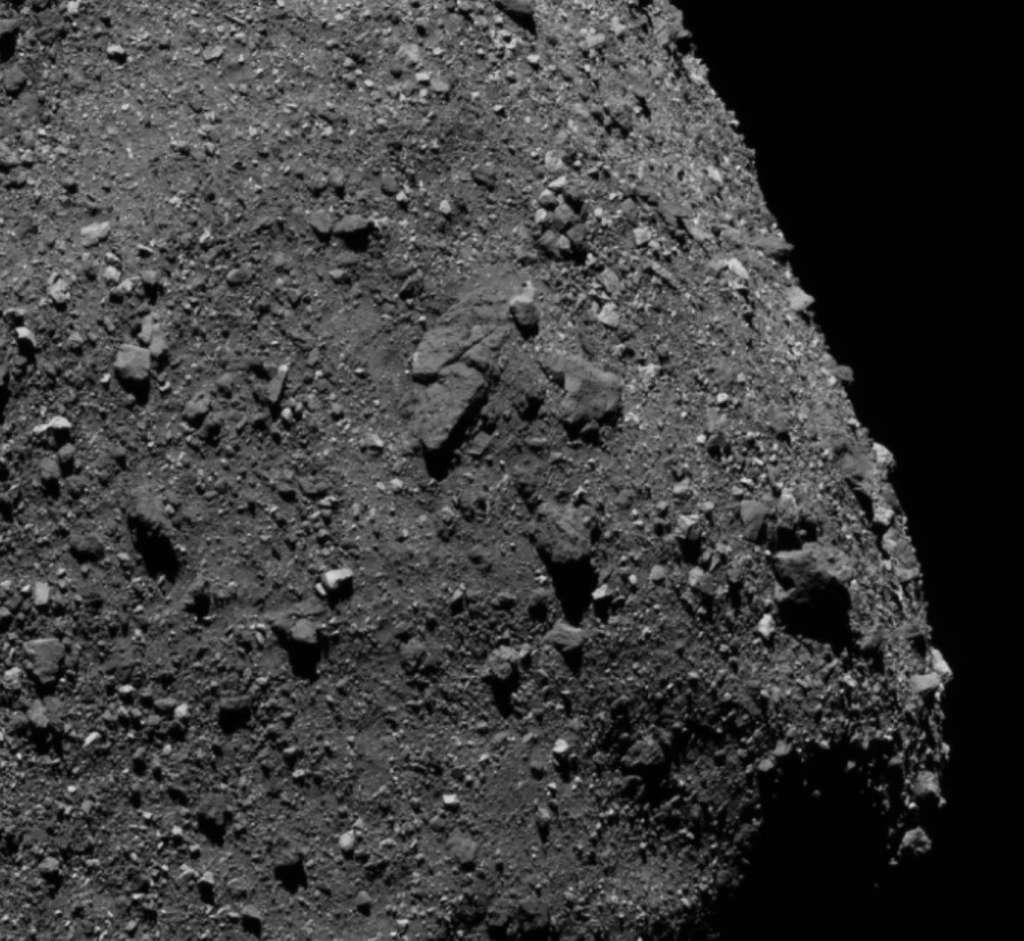 Détails de la surface de l'astéroïde Bennu acquis par la sonde Osiris-Rex de la Nasa. @ Nasa, Centre spatial Goddard