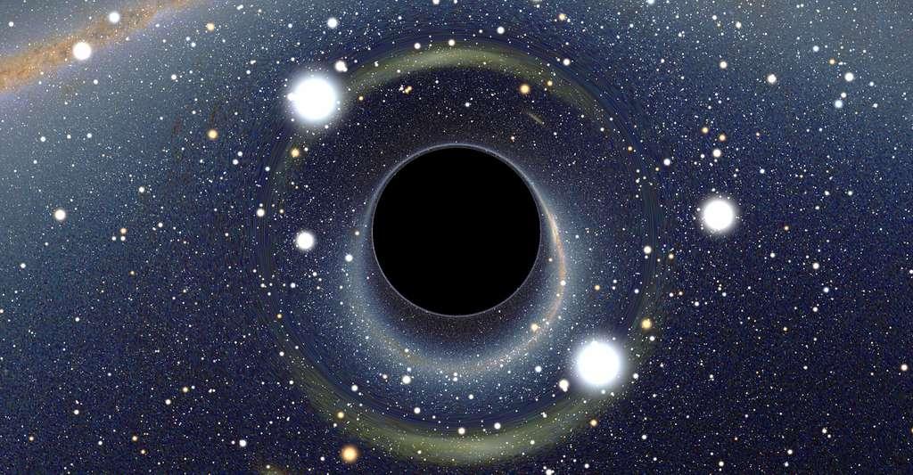 Image simulée d'un trou noir stellaire. © Alain R, CC by-sa 2.5