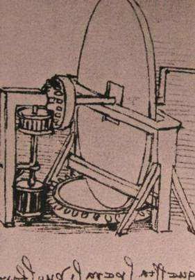 Une machine à polir les miroirs. (Licence Commons)
