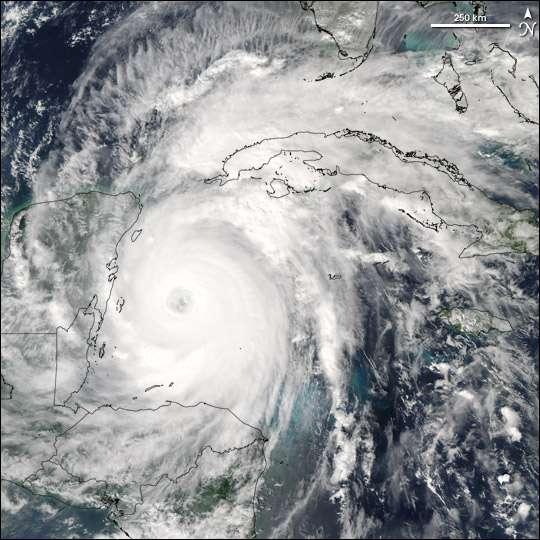 Wilma proche du Yucatan
