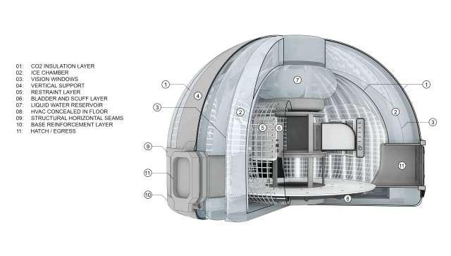 Petite, la maison contient cependant une multitude de niches fonctionnelles. © Serendix Partners