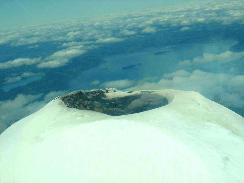 Le sommet du volcan Villarrica, au Chili