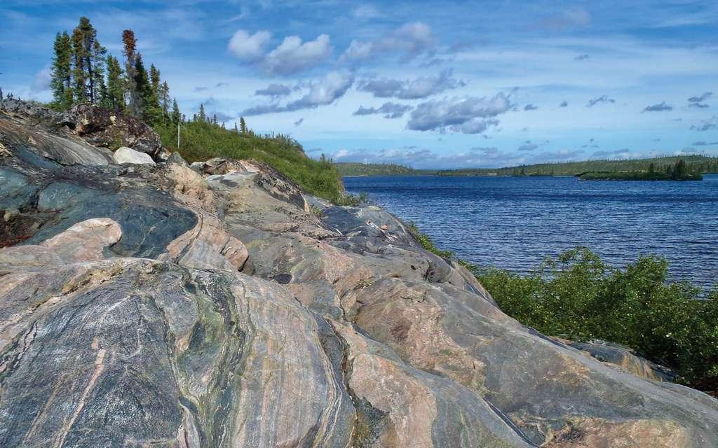 Les gneiss d'Acasta au Canada sont parmi les plus anciennes roches connues de la Terre, contenant des zircons âgés parfois de 4,2 milliards d'années. © 2020 Regents of the University of California