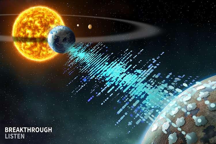 Illustration. Les chercheurs du programme Breakthrough Listen sont à la recherche de signaux susceptibles d'être émis par des civilisations extraterrestres qui nous rechercheraient eux aussi. © UC Berkeley, Breakthrough Listen