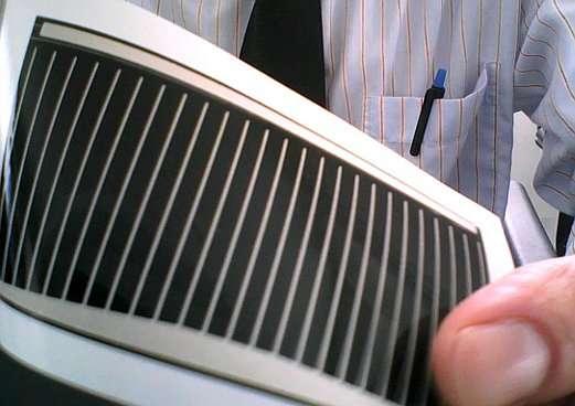 La finesse des cellules photovoltaïques au CIGS permet de les fabriquer sur des substrats souples. © Dantor, Wikimedia Commons, cc by sa 3.0