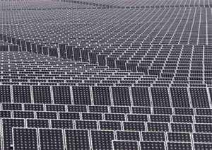 Répartis sur trois sites, les 57 600 panneaux solaires du Bavaria Solarpark, dans le sud de l'Allemagne, en Bavière, offrent au soleil une surface 250 000 mètres carrés et fournissent 10 MW.