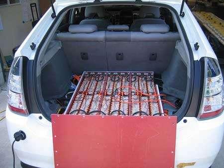 Les batteries de la Volt, voiture électrique © LossIsNotMore Wikipedia