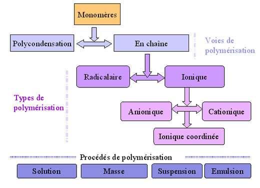 Voies, types et procédés de polymérisation.