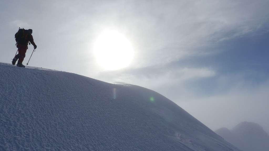 Ascension du volcan Ruapehu (2.800 mètres) en hiver. © Bruno Cédat