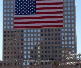 Comme l'indique cette inscription de Ground Zero, les Américains n'oublieront jamais les attentats du 11 septembre 2001. © DR