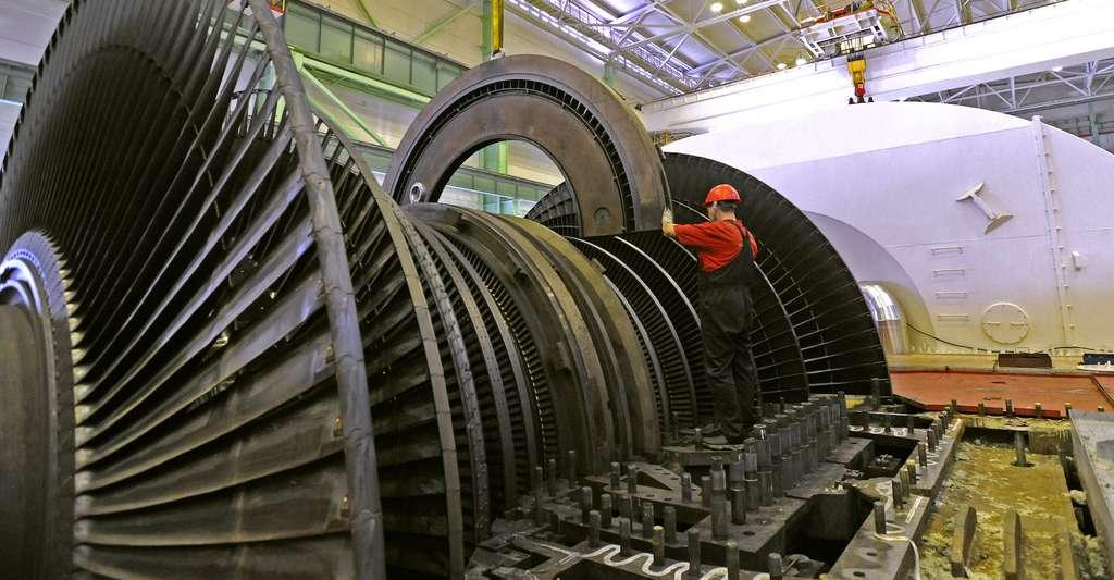 Ici, une turbine basse pression dans une centrale nucléaire. © Alexander Seetenky, CPI NalNpp, Wikipedia, CC by-sa 3.0