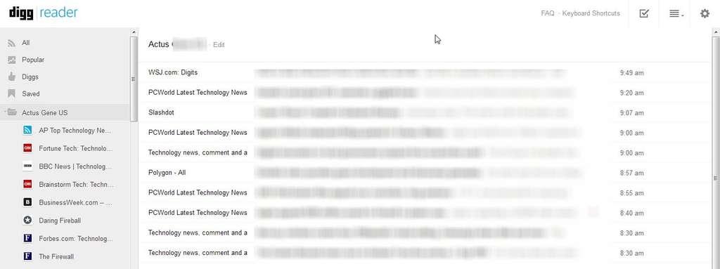 À l'annonce de l'arrêt de Google Reader, Digg a précipité ses plans pour sortir un lecteur RSS dont le premier jet est somme toute assez convaincant. © Marc Zaffagni, Futura-Sciences