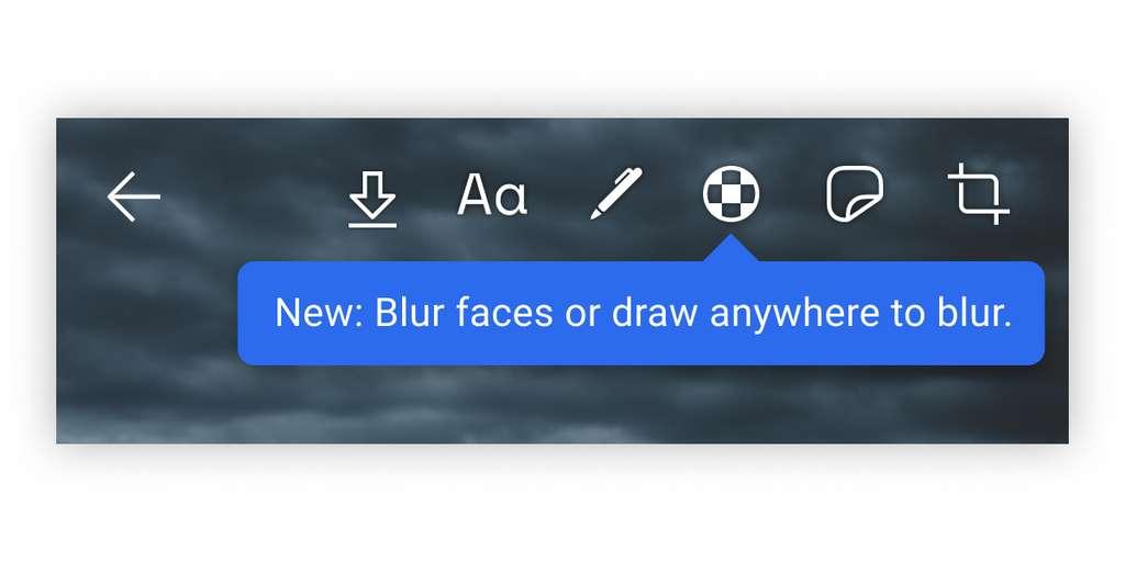 En appuyant sur ce nouveau bouton, l'application floute automatiquement tous les visages. © Signal