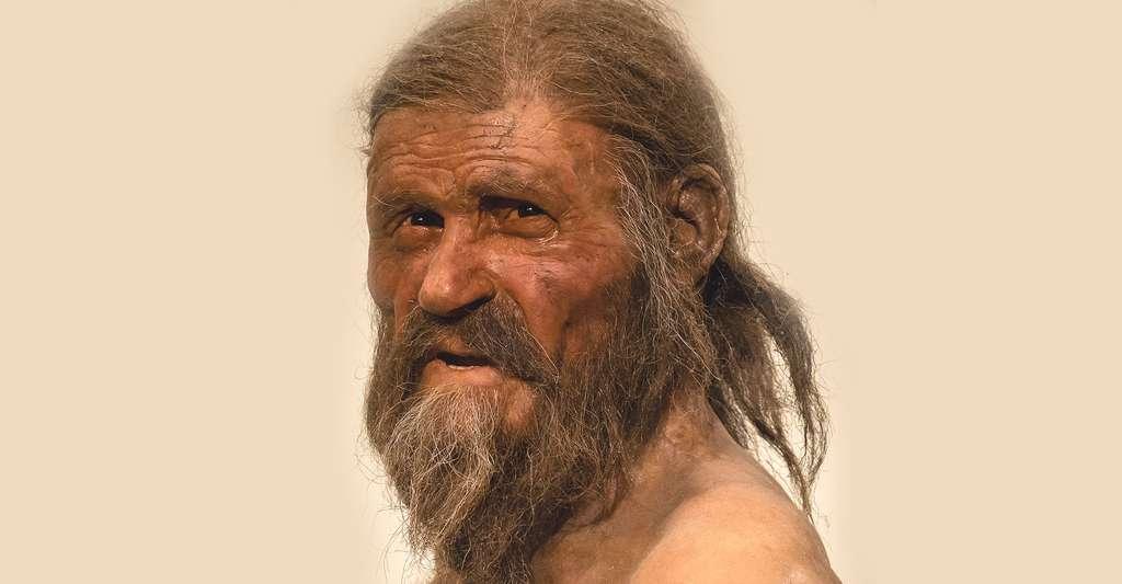 Ötzi, l'homme préhistorique retrouvé dans un glacier autrichien, aurait probablement souffert d'un empoisonnement chronique à l'arsenic en raison de son activité de chaudronnier. Ici, une reconstitution d'Ötzi. © Thilo Parg, CC by-sa 3.0