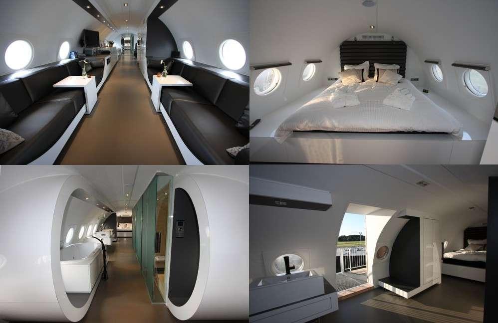 L'hôtel de luxe avion au cœur d'un iliouchine 18, à Teuge, aux Pays-Bas